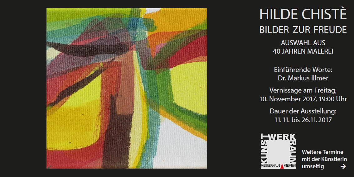 Vernissage, Hilde Chistè - Bilder zur Freude - Auswahl aus 40 Jahren Malerei, Foto: Hilde Chistè/Kunst-Werk-Raum