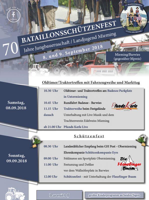 70. Bataillonsschützenfest und 70 Jahre Jungbauernschaft/Landjugend
