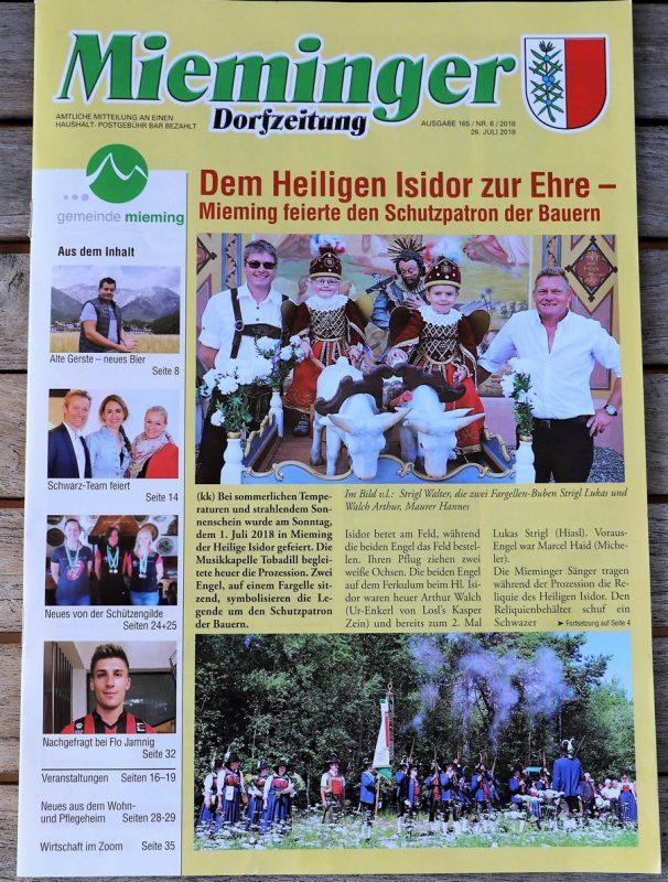 Mieminger Dorfzeitung, Juli-Ausgabe 2018